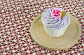stock photo of sugarpaste  - sweet dessert cupcakes on white background clearly - JPG