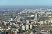 picture of suburban city  - view of european City  from television tower - JPG