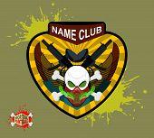 stock photo of paintball  - Paintball team logo and emblem - JPG