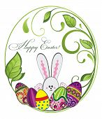 picture of rabbit hole  - Easter illustration - JPG
