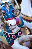 pic of carousel horse  - Close up of a carousel at fairground - JPG