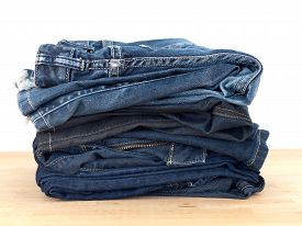 image of denim jeans  - A close up shot of denim jeans  - JPG