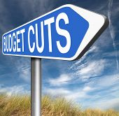 picture of reduce  - budget cuts reduce costs and cut spendings during crisis or economic recession  - JPG