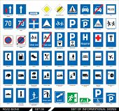 pic of traffic sign  - Set of road signs - JPG
