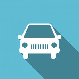 picture of transportation icons  - car flat icon auto sign original modern design flat icon for web and mobile app with long shadow  - JPG