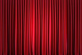 pic of curtains stage  - Background image of red silk stage curtain on theater - JPG