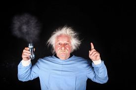 pic of mad scientist  - Mad scientist nutty professor is doing experiment - JPG