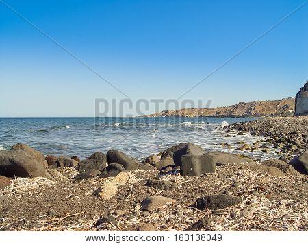The Beach Near Exo Gialos