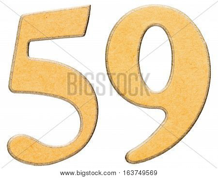 59 Fifty Nine Numeral Of