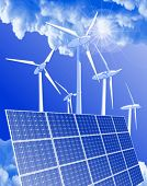stock photo of wind-power  - Ecology concept - JPG