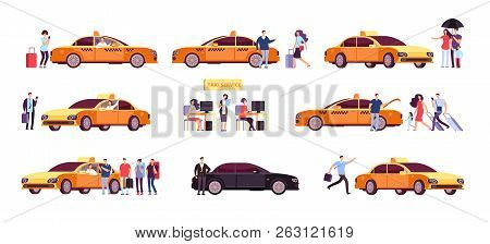 People And Taxi Cab Drivers