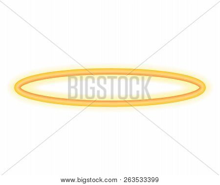 poster of Halo Angel Ring . Holy Golden Nimbus Circle Isolated