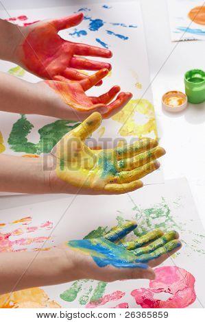 Постер, плакат: дети живопись своими руками, холст на подрамнике