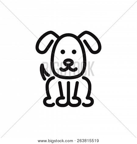 poster of Dog Icon Isolated On White Background. Dog Icon In Trendy Design Style. Dog Vector Icon Modern And S