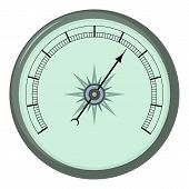 Atmosphere Barometer Icon. Cartoon Illustration Of Atmosphere Barometer Icon For Web poster