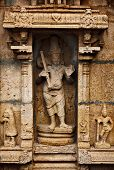 stock photo of trichy  - Bas relief in Hindu temple - JPG