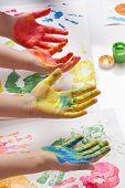 Постер, плакат: дети живопись своими руками
