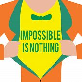 Handwriting Text Impossible Is Nothing. Concept Meaning Anything Is Possible Believe The Realm Of Po poster