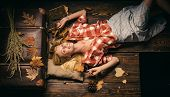 Beautiful Sensual Blonde. Happy Young Woman Having Fun With Leaf Fall. Surprise Woman Playing With L poster