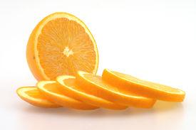 foto of valencia-orange  - Sliced orange ready for the healthy snack - JPG