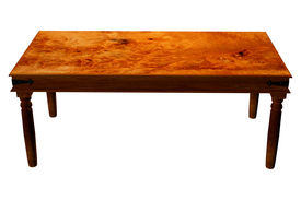 picture of wooden table  - Traditional wooden table to stand your products - JPG