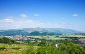 image of william wallace  - the Wallace Monument as seen from Stirling Castle hill - JPG