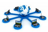 picture of intranet  - Global network the Internet - JPG