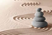 zen meditation garden, relaxation and meditation through simplicity harmony and balance lead to heal