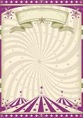 foto of school carnival  - Vintage purple circus - JPG