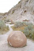 image of cannonball  - Cannonball Concretions badlands - JPG