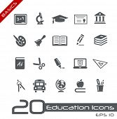 stock photo of mathematics  - Education Icons  - JPG