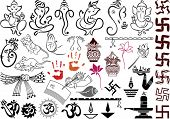 stock photo of ganesh  - Ganesha with wedding symbols - JPG