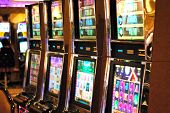 picture of slot-machine  - Slot machines for gambling in a Las Vegas Casino - JPG