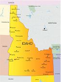 picture of boise  - Vector color map of Idaho state - JPG