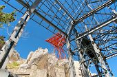 stock photo of mussolini  - Cableway Pylon View Campo Imperatore - JPG