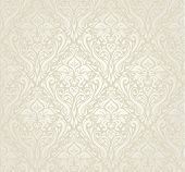 image of monochromatic  - Bright floral Wedding decorative Vintage Wallpaper design - JPG