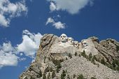 stock photo of mount rushmore national memorial  - Mount Rushmore Memorial in the state of South Dakota - JPG