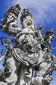 stock photo of arjuna  - Kumbakarna Laga statue in Eka Karya Botanical Garden Bedugul Bali Indonesia - JPG