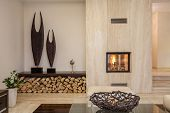 foto of firewood  - Travertine house - JPG