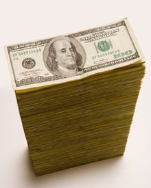 picture of one hundred dollar bill  - cash stack - JPG