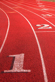 image of track field  - track competition lanes 1 - JPG