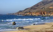 foto of pch  - Early Dusk on the Beach at Garrapata State Park - JPG
