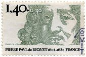 Stamp from France Pierre Paul de Riquet