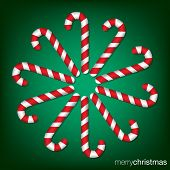 stock photo of meals wheels  - Candy Cane Christmas Card In Vector Format - JPG