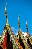 picture of gable-roof  - Gable apex on the roof of Buddhist temple in Thailand - JPG
