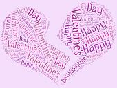 stock photo of broken heart flower  - Tag or word cloud Valentine - JPG