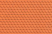 stock photo of red roof tile  - Red roof tile pattern  - JPG