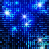 Blue sparkle glitter background. Glittering sequins mosaic pattern. Template design of blue glitteri
