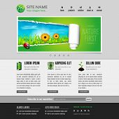 image of ladybug  - Green eco website template  - JPG