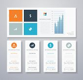 Minimal infographic flat business ui elements vector illustration